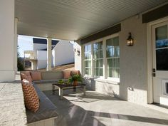 HGTV Smart Home 2014 Covered Porch.  A covered porch gives homeowners the opportunity to enjoy the outdoors, rain or shine.