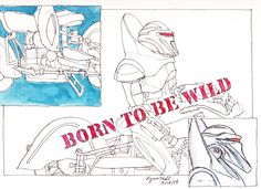 """Born to be wild"" Toy Cylon on toy cycle"