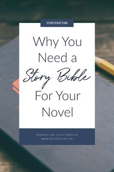 A story bible helps keep your thoughts, ideas, and major story points organized to make your writing process smoother Writing Notebook, Book Writing Tips, Writing Process, Writing Resources, Writing Help, Writing Ideas, Writing Quotes, Editorial Writing, Outlining A Novel