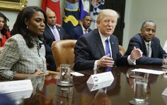 WASHINGTON (AP) — President Donald Trump escalated his messy clash with former aide Omarosa Manigault Newman on Tuesday, referring to the longtime colleague, who had been the top African-American in his White House, as ''that dog! Donald Trump, Trump Tapes, African American History Month, Trump Comments, Black Leaders, Sign Company, Chief Of Staff, Fake News, Call Her