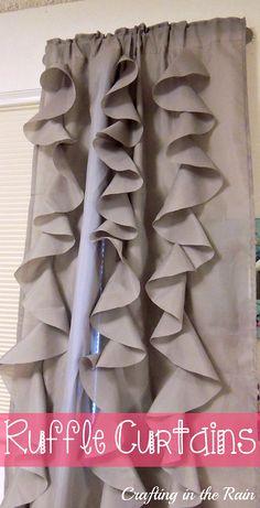Crafting in the Rain: Ruffle Curtains (Circle Ruffles)