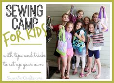 Sewing Camp for Kids - tips and tricks - Sugar Bee Crafts