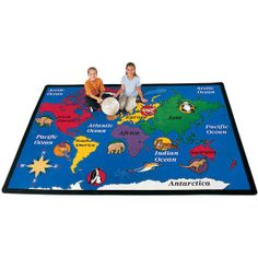 World Explorer Rug from Carpets for Kids