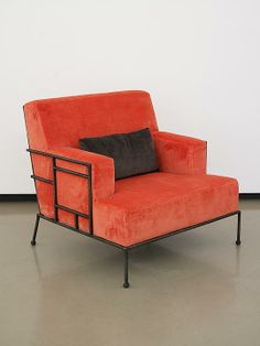 Pliniana armchair, 2013 - Mattia Bonetti  Bronze with upholstery- Paul Kasmin Gallery