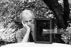 Artist and sculptor Joseph Cornell poses for a portrait in 1967 at his home and studio Art Boxes, Box Art, Joseph Cornell, Painters, Studios, Poses, York, Guys, Portrait