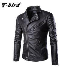 T-bird Jacket Men Winter 2017 Coat Male Bomber Jacket Men Locomotive Leather Large Size   Brand Outwear Mens Cotton Jackets 5XL #Affiliate
