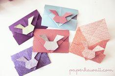 bunny-rabbit-origami-envelopes Video Tutorial - Origami Bunny Rabbit Envelopes