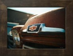 A Classic Chevy Grill photography print. Canadian Wall Art by Aron Naim.
