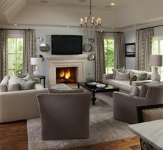Living Room Black Furniture Color Schemes Decorating Ideas New Ideas Small Room Design, Family Room Design, Transitional Living Rooms, Transitional Decor, Transitional Bathroom, Living Room Color Schemes, Living Room Designs, Living Room Grey, Living Room Decor