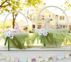 easter basket with it's own tutu. i'm going to attempt to make my own this week.