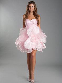 Short, Strapless Tulle Dress