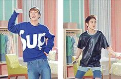The Chen & Xiumin...I don't need anymore reasons to love you Xiumin what # am I on 1000?