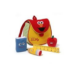 Sesame Street Elmo 5-pc. Plush Backpack Playset by Gund, Multicolor