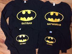 Batman familia camisas