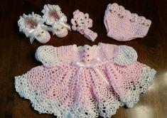Conjunto de vestido de bebé por fromnanashands1 en Etsy