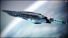 Sally Ride by Kurumi-Morishita on DeviantArt Star Trek 1, Star Trek Ships, Star Trek Starships, Star Trek Enterprise, Star Trek Characters, Ship Of The Line, Concept Ships, Star Trek Universe, Science Fiction