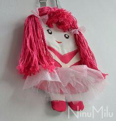 NinuMilu - torebki lalki - handbag dolls for girls: Różowa Filomena, prawie bliźniaczka