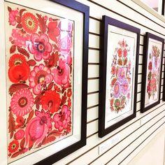 Exhibit of #Petrykivka #folkart from #Ukraine currently at the Ukrainian History & Educational Center, S. Bound Brook #newjersey #ukrainianfolkart #flowers #folkart #inspired www.UkrHEC.org