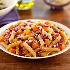 Whole Grain Penne with Radicchio, Butternut Squash and Parmigiano-Reggiano Cheese - Allrecipes.com