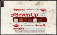 Pearson's Milk Chocolate Seven Up candy bar, discontinued in 1979.