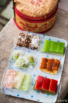 Lek Lim Nonya Cake Confectionery   Address: Block 84 Bedok North Street 4, #01-21, Singapore 460084  Telephone: +65 6449-0815  Opening Hours: 7:30am - 5pm (Monday to Saturday), 7:30am - 1pm (Sunday)