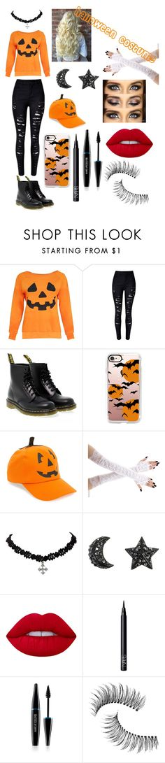 """""""🎃Halloween Costume l🎃"""" by gomazzy1946 ❤ liked on Polyvore featuring Dr. Martens, Casetify, David & Young, Lime Crime, NARS Cosmetics, MAKE UP FOR EVER and Trish McEvoy"""