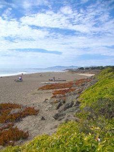 The beautiful Moonstone Beach in Cambria, CA.