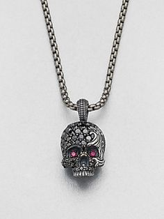 David Yurman Waves Skull Necklace