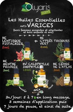 Les Huiles Essentielles contre les Varices : la solution naturelle par Olyaris Essential Oils against Varicose Veins: the natural solution by Olyaris Ayurveda, Varicose Veins, Diy Beauty, Aromatherapy, Body Care, Essential Oils, About Me Blog, Health Fitness, Healing