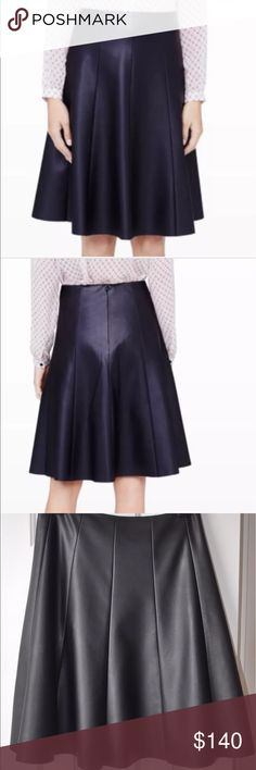 "NEW  CLUB MONACO LANGLEY FAUX LEATHER SKIRT NEW WITH ORIGINAL TAG CLUB MONACO LANGLEY FAUX LEATHER SKIRT    $169.50+TAX SIZE: 4 COLOR: BLACK Our covetable faux-leather Langley skirt brings texture and depth to any look, day or night.  Pair with a crisp, white button-down for work, or dress up for a night out with a silk shell.  A-line skirt silhouette.  Paneled construction.  Hidden zip with hook-and-eye closure at side.  23"" in length.  Fully lined.  Viscose.  Dry clean only. Club Monaco…"