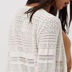 Cream Pointelle Knit Midi Cardigan