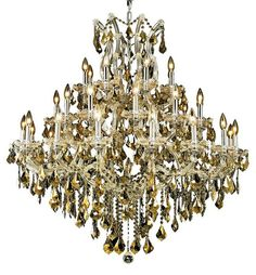 Magic Gold Crystal Chandelier