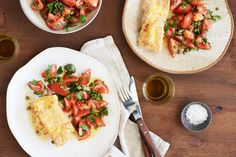 Crumbed Fish with Tomato and Parsley Salad Crumbed fish just got classy with the help of a crunchy polenta coating. Partner the crispy fish with a zingy tomato and caper salad and you have a refreshing dinner for two.