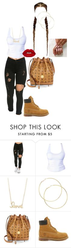 """Untitled #108"" by laila-11 ❤ liked on Polyvore featuring Sydney Evan, MCM, Timberland and Lime Crime"