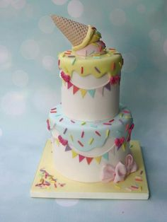 Image result for ice cream theme cakes
