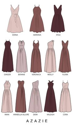 Choose your classic dusty rose bridesmaid gown from our selection. See Azazie& bridesmaids wearing dusty rose dresses and let yourself be inspired! Azazie Bridesmaid, Dusty Rose Bridesmaid Dresses, Dusty Rose Dress, Bridesmaid Dress Colors, Wedding Bridesmaids, Types Of Dresses Styles, Types Of Gowns, Dream Wedding Dresses, Mode Inspiration