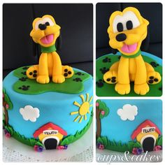 Terrific 13 Best Pluto Cake Images Disney Cakes Disney Themed Cakes Funny Birthday Cards Online Elaedamsfinfo