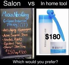 Just think, spas are charging $250 for one Micro-Needling treatment. Rodan and Fields offers the same Needling tool for $180. That's right, you can have as many treatments as you like for $180 with our Amp Roller! This tool is a MUST!