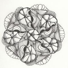 Pattern Play with Pens: Zendala Dare #3    - #DRAW #ZENTANGLE #ZENDALA #TANGLE #DOODLE #BLACKWHITE #BLACKANDWHITE #SCHWARZWEISS