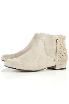 Love these gorgeous studded ankle boots!
