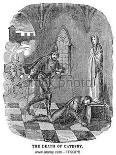 ROBERT CATESBY (1573-1605). /nEnglish conspirator. The death of Robert Catesby after the Gunpowder Plot conspirators' - Stock Image