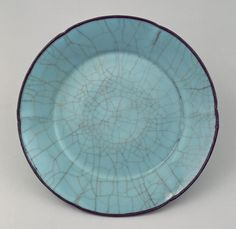Dish  Period: Southern Song dynasty (1127–1279) Date: late 12th–13th century Culture: China Medium: Stoneware with crackled blue glaze (Guan ware)