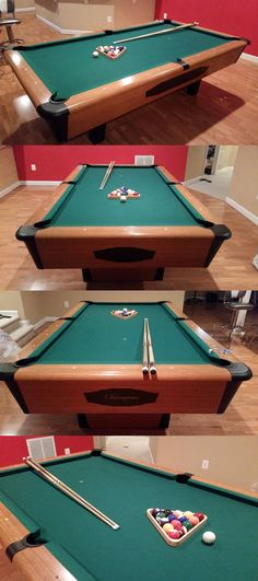 Tables Pool Tables Foot Billiards Game Room Balls Cues - Chicagoan pool table