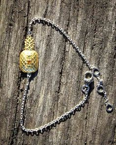 Bracelet Ananas  #ananas #pineapple #preciousstone #finejewellery #petitejoaillerie #jewellery #sathyne #bijoux