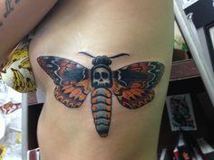 Brand new deaths head moth tattoo #irontigertattoo
