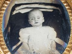 Awesome Civil War Era 1/6 Plate tintype of a Young Girl in Post Mortem,  Norfolk, VA