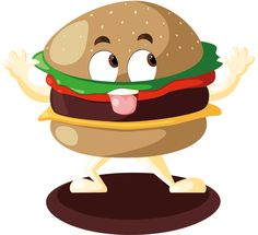 Vectoriel mascotte monsieur burger
