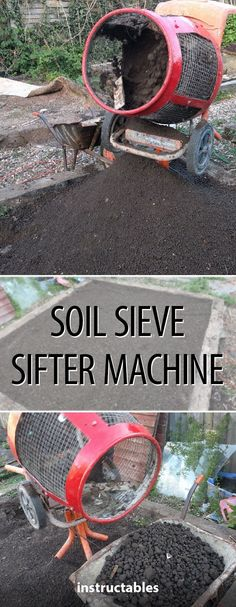 Soil Sieve Sifter Machine #gardening #soil #horticulture