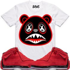 622fd99fa555ea Jordan Red Suede Sneaker Shirt by BAWS sneaker tee shirts to match is  available on our online store.