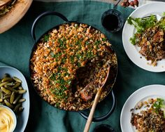 This streamlined, somewhat lighter cassoulet employs French green lentils, bacon, and smoked sausage.